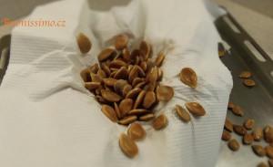 Příprava semínek z dýně hokkaido