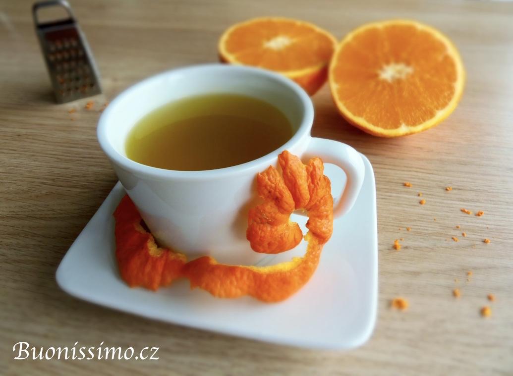 Čaj z pomerančové kůry